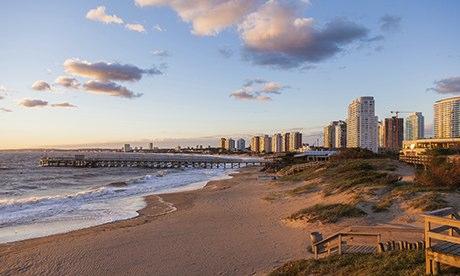 A beach at Punta del Este, Uruguay